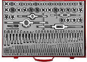 ЗУБР 110 предметов, 9ХС, набор метчиков и плашек  (28119-H110_z01)