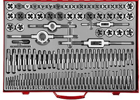 ЗУБР 110 предметов, 9ХС, набор метчиков и плашек  (28119-H110_z01), фото 2