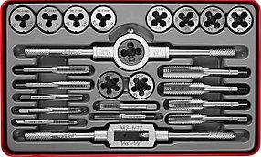 ЗУБР 24 предмета, 9ХС, набор метчиков и плашек  (28116-H24_z01)