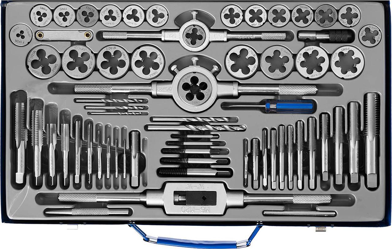 ЗУБР 35 предметов, Р6М5, набор метчиков и плашек (28110-H65) Профессионал (28110-H65)