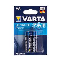 Батарейка, VARTA, LR6 Longlife Power Mignon, AA, 1.5V, 2 шт., Блистер