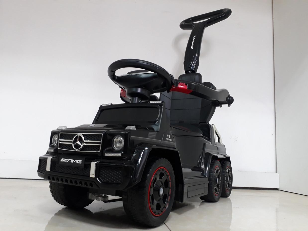 Шестиколесный Лицензионный толокар Mercedes-Benz. Колеса резиновые! Kaspi RED. Рассрочка.
