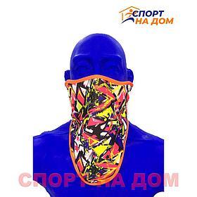 Зимняя утеплённая маска с принтом
