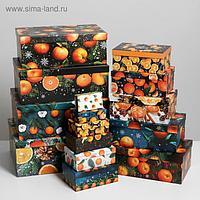Набор коробок подарочных 15 в 1 «Мандариновый», 12 х 7 х 4 см - 46,6 х 35,2 х 17.5 см