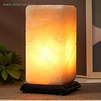 """Соляной светильник с диммером """"Пятый элемент"""" Е14 15Вт 2-3 кг белая соль 10х10х20 см"""
