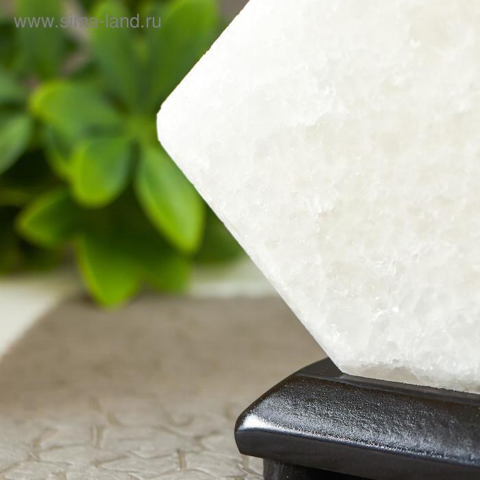 """Соляной светильник """"Кубик"""" LED (диод цветной) USB белая соль 10х9х7 см - фото 5"""
