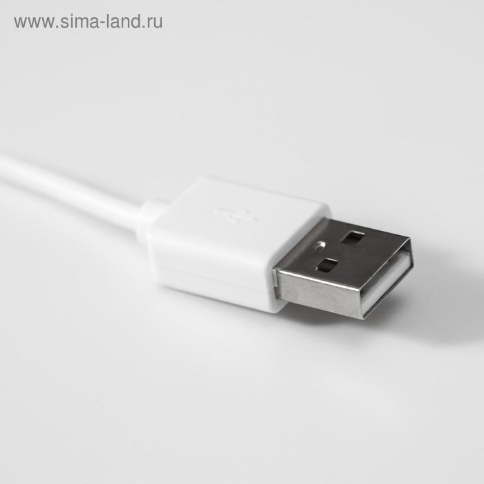 """Соляной светильник """"Кубик"""" LED (диод цветной) USB белая соль 10х9х7 см - фото 6"""