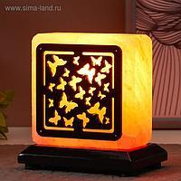 """Соляной светильник с диммером """"Бабочки"""" Е14 15Вт 1,3-1,4 кг гимал. соль 12х7х12 см"""