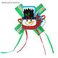 Карнавальный зажим «Снеговик», с бантиком, виды МИКС
