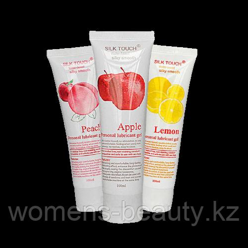 Вкусовые лубриканты с фруктовыми ароматами и вкусом SILK Touch (интим - смазка) 100ml.