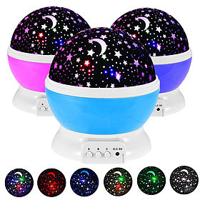 Вращающийся ночник-проектор Звездное небо. Star Master Dream
