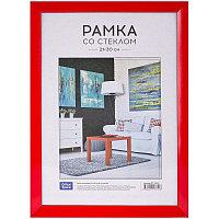 Рамка пластиковая 21*30см, OfficeSpace, №12, красная РП_19811