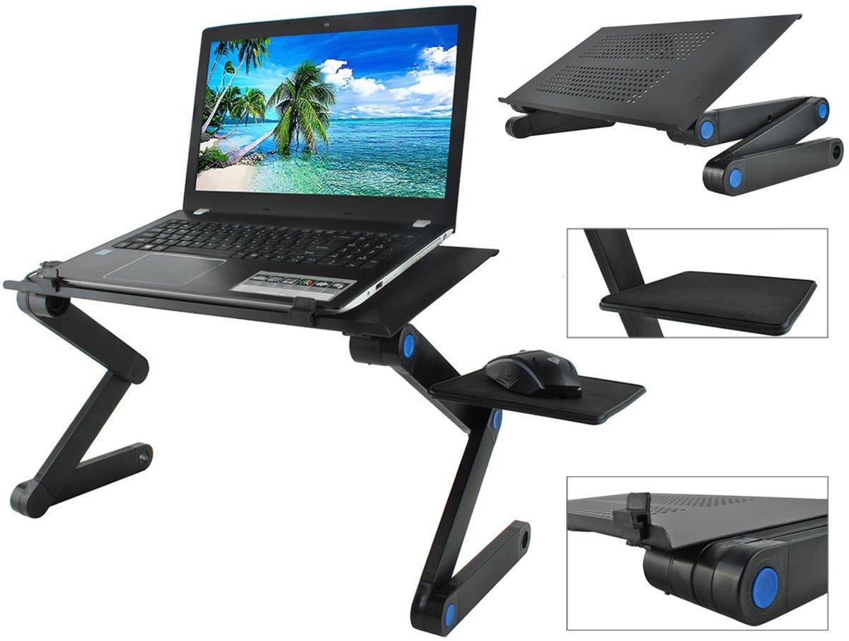 Стол для ноутбука с охлаждением с подставкой для мышки Laptop table T8