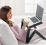 Стол для ноутбука с охлаждением с подставкой для мышки Laptop table T8, фото 4