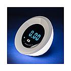 Светильник многофункциональный, Deluxe, Eclipse, 4W, Часы-будильник, RGB подсветка, Димминг 7 уровне
