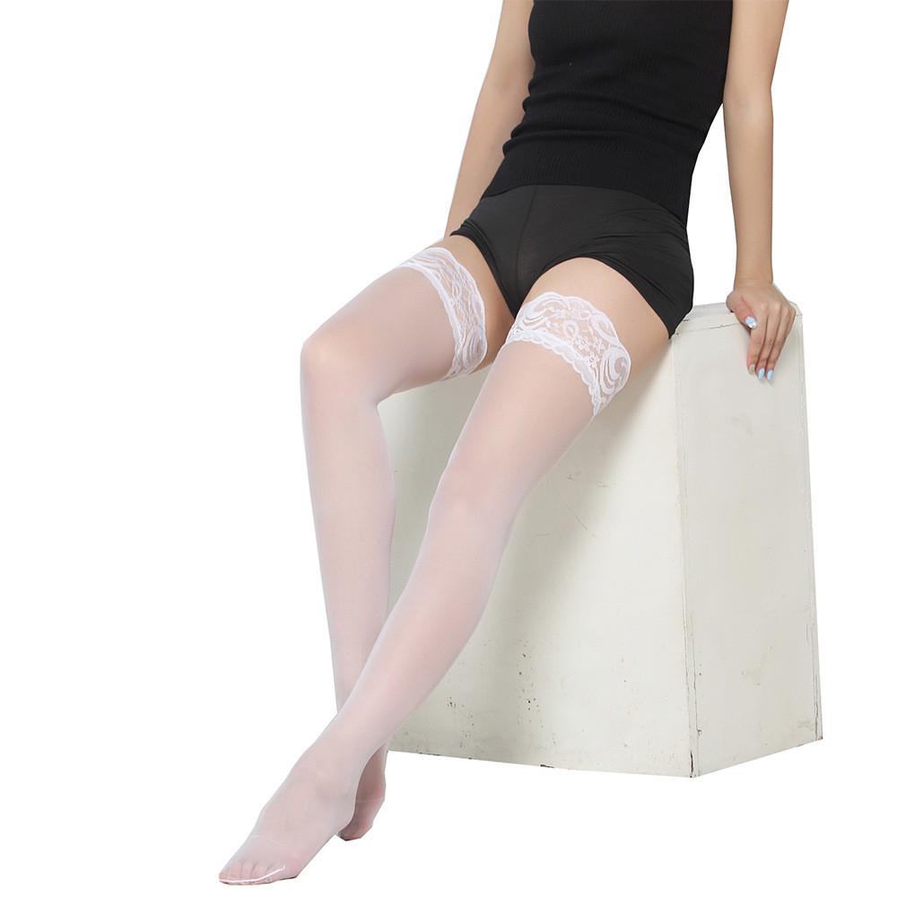 Сексуальные чулки на силиконовой ленте.