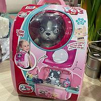Собачка в чемодане - рюзаке 2 в 1 My pets розовый, фото 1