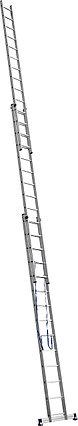 Лестница СИБИН трехсекционная со стабилизатором, 14 ступеней, 954 см, фото 2