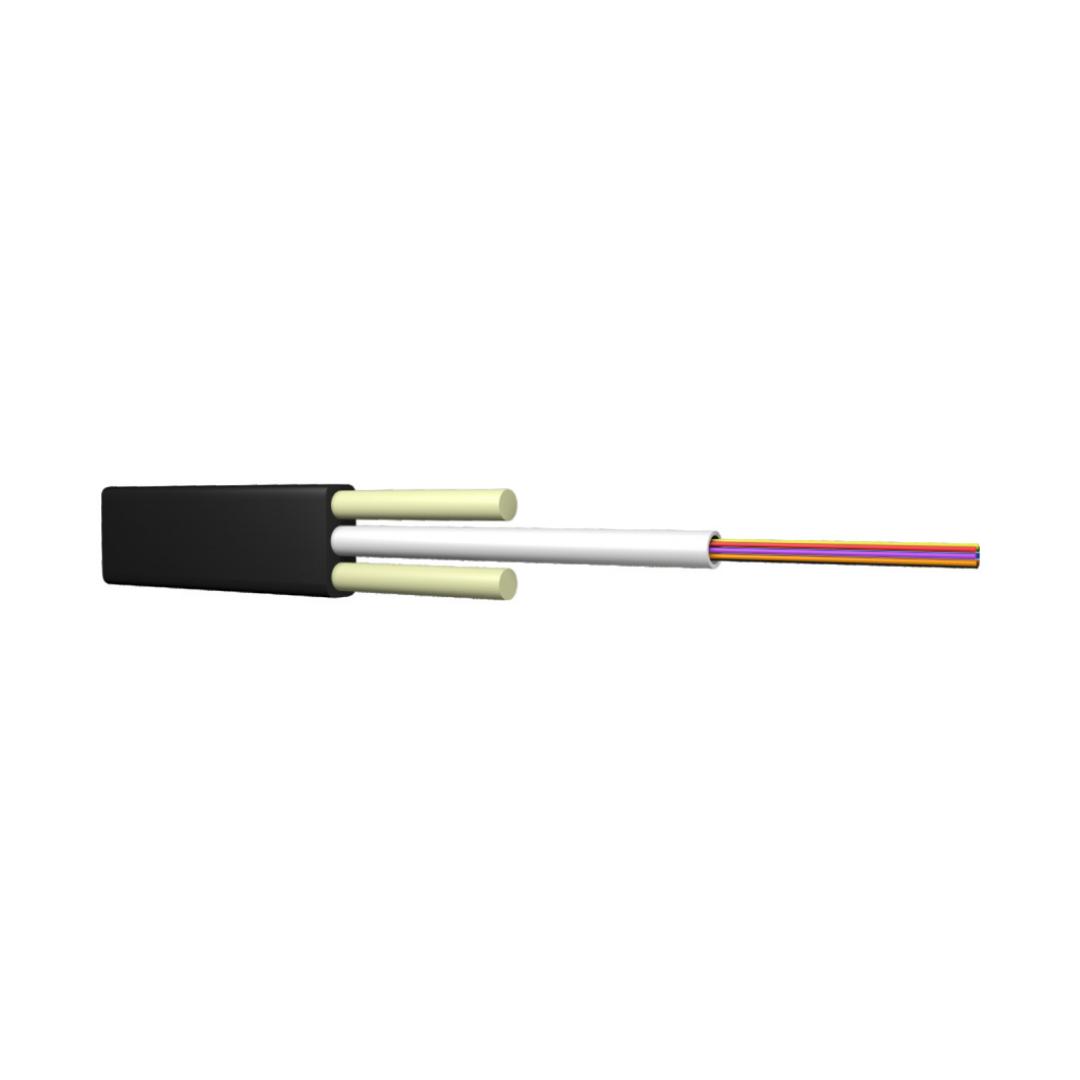 Кабель оптоволоконный, ИК/Д2-Т-А4-1.1 кН (плоский)