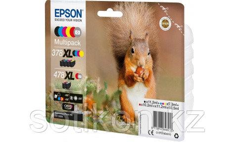 Картридж Epson C13T379D4020  478XL Mpack Ink(Bk.C.M.Y.R.GY) RF/AM Tag набор 6 шт., фото 2