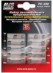 Набор предохранителей AVS FC-239 (цилиндрические стеклянные) в блистере