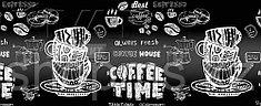 """Фартук КронаПласт """"Koffee time"""" (493) 3*0,6м"""