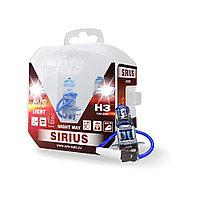 Лампа галогенная AVS SIRIUS NIGHT WAY H3.12V.55W Plastic box -2 шт.