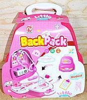 RX-623A Мед набор в рюкзаке-чемодане Back Pack medical 29*25см (розов), фото 1