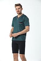 Пижама мужская* M / 46-48, Зеленый