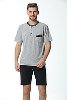 Пижама мужская* 2XL / 52-54, Серый