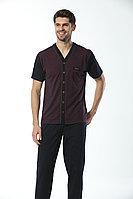 Пижама мужская* L / 48-50, Бордовый