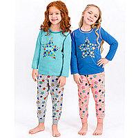 Пижама детская девичья* рост 122-128, Зеленый матовый