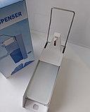 Металлический медицинский локтевой дозатор (диспенсер) для антисептика и жидкого мыла 1000мл с евроканистрой, фото 4