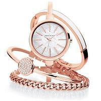 Часы наручные женские Anne Klein с тремя дизайнерскими браслетами (Розовое золото)