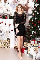Женское осеннее черное нарядное платье MEDIUM 183 42р.