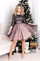 Женское осеннее нарядное платье MEDIUM 5204 40р.