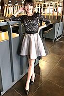 Женское осеннее кружевное нарядное платье MEDIUM 5246 40р.