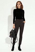 Женские осенние коричневые деловые брюки Prio 195060 коричневый 42р.