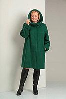 Женское осеннее драповое зеленое большого размера пальто Diamant 1016 зеленый 52р.