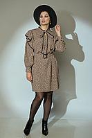 Женское осеннее нарядное платье Angelina 620 бежевый 42р.