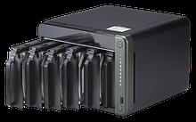 "QNAP TS-653D-4G Сетевой RAID-накопитель, 6 отсеков 3,5""/2,5"", 2 порта 2,5 GbE BASE-T, HDMI-порт. Intel Celeron"