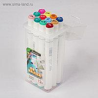 Набор маркеров Superior, профессиональные, двусторонние, 12 шт.,12 цветов, MS-888