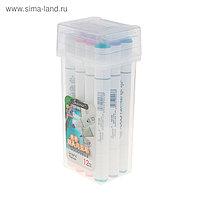 Набор маркеров Superior, профессиональные, двусторонние, 12 штук, 12 цветов, MS-888