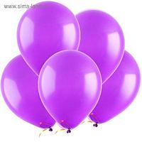 """Шар латексный 9"""", пастель, набор 100 шт., цвет фиолетовый"""
