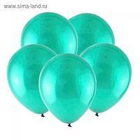 """Шар латексный 12"""", кристалл, набор 100 шт., цвет морской зелёный"""