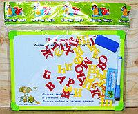 """9114-2 Доска """"Два жирафа"""" двухсторонняя, буквы в пакете 30*22см"""