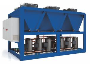 Чиллер с воздушным охлаждением конденсатора, холодопроизводительность 47.6 кВт, модель SV-CLR47