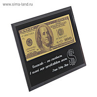 """Купюра 100$ в рамке """"Богатство это способность..."""", 18 х 14 см"""