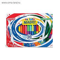 """Фломастеры меняющие цвет/стираемые Carioca """"Magic Markers"""", 18 цветов + 2, 20 штук, картон, европодвес"""