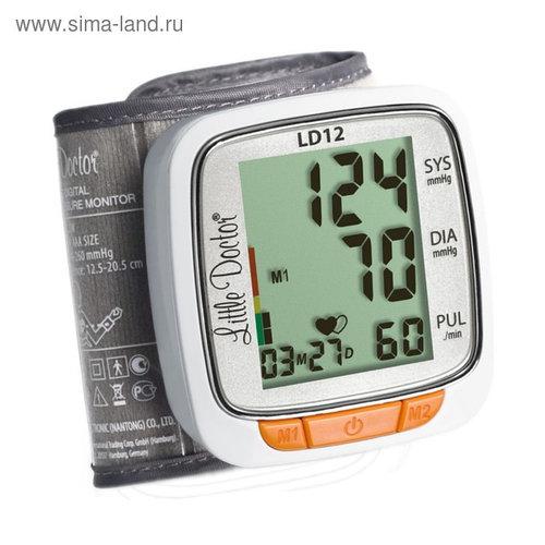 Тонометр на запястье Little Doctor LD 12, автоматический, манжета 12.5-20.5 см, 2хААА